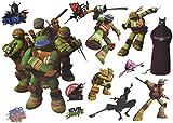 alles-meine.de GmbH 13 TLG. Set: Wandtattoo / Sticker + Fensterbilder - Teenage Mutant Ninja Turtles...