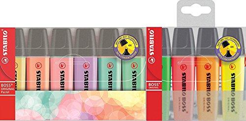 Stabilo Boss Original - Marcadores (4 Neon + 6 pastel.