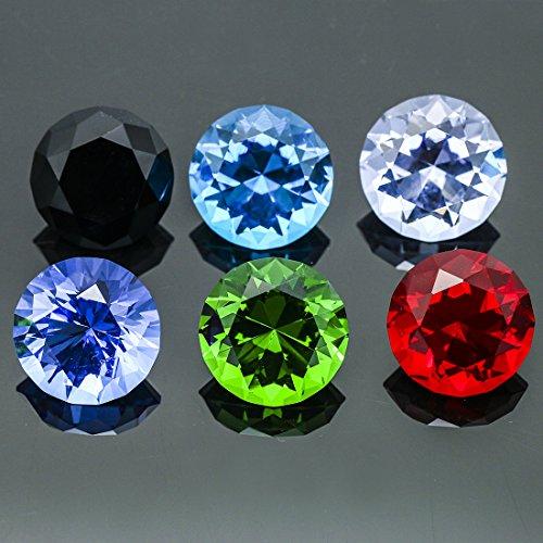 H&D 12 stks 30mm Crystal Diamond Set Bruiloft Aquarium Decoratie, Natuurlijke Kleur, Niet vervagen