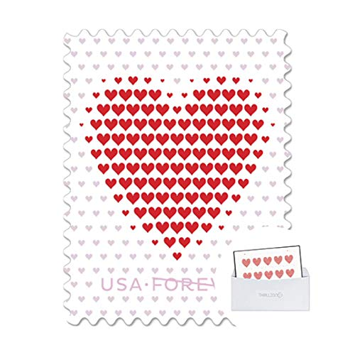 United States Postal Service Made of Hearts Sheet of 20 Forever First Class Postage Stamps Wedding Celebration Love Valentines Scott 5431 (1 Sheet of 20) - ThrillZone Bundle