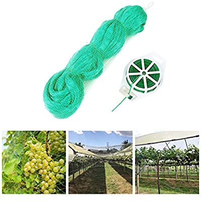 Bldaxn Green Anti Bird Netting Garden Protection Mesh Netting Reusable Protective Garden Netting for Plants Fruit Trees Against Birds,Deer and Other Animals,Netting Fence 13Ft x 16Ft