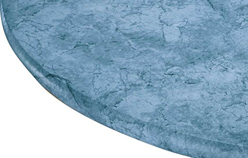"""Miles Kimball Marbled Vinyl Elasticized Table Cover 45"""" - 56"""" Dia. Round"""
