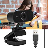 Built-in digital microphone, all-round sound absorption and noise reduction, which bring clear and easy voice calls HD video call, 1080P full HD picture quality, support online classroom live broadcast, video chat, remote meeting, clearer with multi‑...