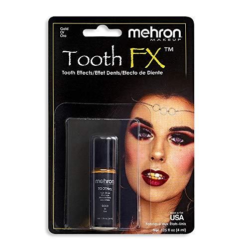 Mehron Makeup Tooth FX with Brush (.25 ounce) (Gold)