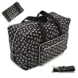 22' Foldable Large Travel Duffel Duffle Bag Overnight Carryon Weekend Bag Shoulder Bag Water Rresistant 8 Color Choices (puppy)