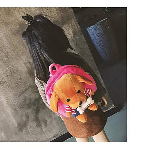 N-B Mochila Escolar para niños Mochila Escolar para Estudiantes Perro de Felpa Estampados de Animales para niños Mochilas para niños Bolsa de Viaje