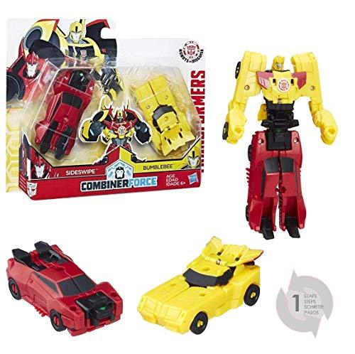 Hasbro Transformers C0630ES0 - Robots in Disguise CRASH COMBINERS BUMBLEBEE und SIDESWIPE, Spielset