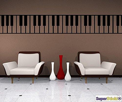 SUPERSTICKI Klavier Musik klassisch Wandtattoo ca 40 x 1,40 Hobby Deko