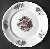 Vintage Formalities by Baum Bros Maria Rose Pattern China (Set of 2) Gold Trimmed Salad Plates