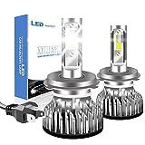 Chemini Kit de conversión de faros LED H4 de haz largo/bajo superbrillante 10000LM 100W blanco 6000K bombilla de faro LED chip COB