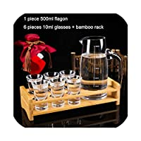 White Wine Goblet 7 Pieces/Set Shot Glasses And Flagon Set Nuptial Small Cup Dining Room Resturant Glass Cup,Style 11