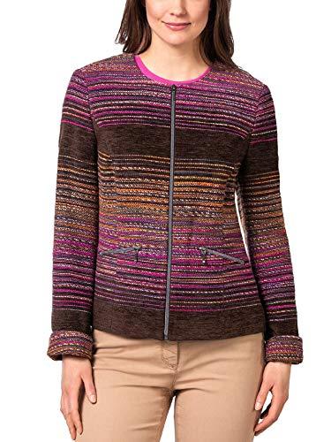 Walbusch Damen Chenille Streifenblazer Mehrfarbig Braun Multicolour 50