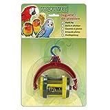 Arquivet juguete para pájaros - plástico - con rodante - 7 x 4 x 10 cm