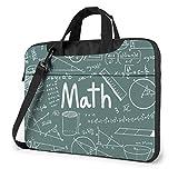 Matemáticas Teoría Fórmula matemática Ecuación Bolsa para computadora portátil Bolsa de Mensajero de Hombro de 15.6 Pulgadas Maletín para computadora