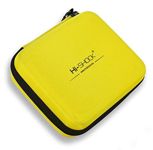 Hi-SHOCK E-Zigarette Dampf-Tasche/Vapo-Hardcase | Dampfer-Etui zur Aufbewahrung von Liquid, elektronischer Zigarette und Zubehör | Tragegriff Reisen/Travel - gelb - wasserabweisend | Multi-Bag