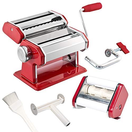 bremermann Máquina para hacer espaguetis, pasta, raviolis y lasaña (7 niveles), máquina de pasta