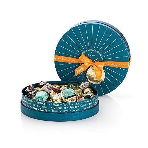 Venchi Scatola Regalo Con Cioccolatini Assortiti, Cappelliera Blu Petrolio G - Senza Glutine, Cioccolato, 400 Grammo