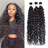 Maxine Water Wave Hair Brazilian 10a Virgin Hair Bundles Deals Unprocessed Long Human Hair 3Bundles 36 38 40 inch Natural Black Color for Black Women