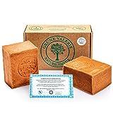 Originale Aleppo Seife ® 2 x 200g, 60% Olivenöl 40% Lorbeeröl, PH Wert 8, Detox Eigenschaften, veganes Naturprodukt - Handarbeit nach jahrtausend altem Traditionsrezept, über 6 Jahre gereift!