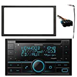 Kenwood 2-DIN Bluetooth CD AM/FM USB Car Audio Receiver Bundle Combo with Enrock Double DIN Install Dash Kit, Radio Wiring Harness, Enrock Antenna Adapter (Fits Select 1994-2005 Vehicles)