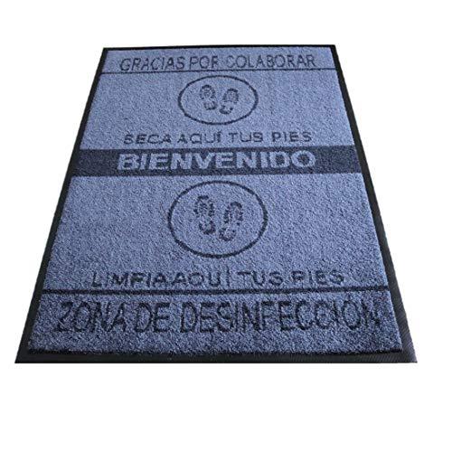Felpudo desinfectante Calzado - Alfombra Limpia Zapatos para la Entrada, felpudos Entrada casa Originales, moqueta higienizante (70_x_110_cm)