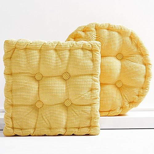 JINDSMART Chair Cushion,Padded Chair Cushion,Portable Breathable Durable Square ound Cushion,for Dining Chair Wheelchair High Stool Chair