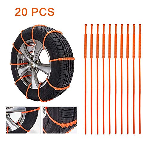 Swanda Portable Emergency Traction Car Snow Tire Anti-skid Chains for TPU...