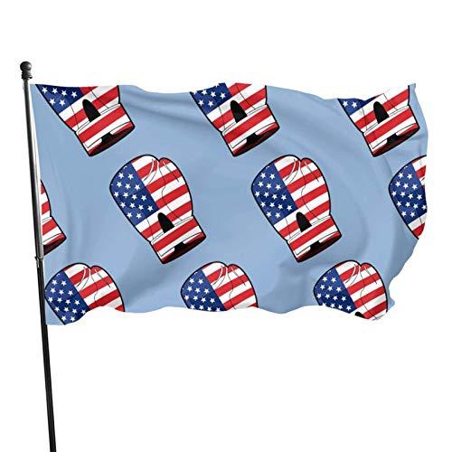 Guante de Boxeo con Bandera de 3x5 Ft con Bandera de América Bandera de jardín Bandera Decorativa para el hogar Bandera de Patrulla disuasoria