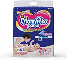 MamyPoko Pants Extra Absorb Diapers Monthly Pack, Small (Pack of 123)
