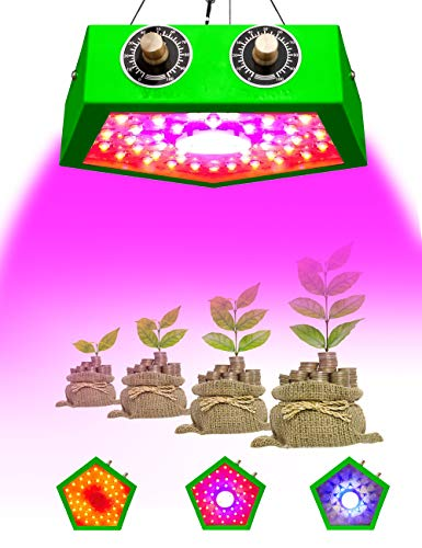 I-SHUNFA Growing Plant Light,1000W Full Spectrum LED Bulbs Grow Light Come with Dimmer Switch and Samrt Integrated COB Technologies Driver,PC Fan Heatless for Indoor Plants Veg and Flower