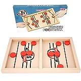 Ulikey Fast Sling Puck Game, Catapult Board Game, Jeu de Table de Hockey Portable en Bois, Jeu de Palet à Fronde Rapide, Table Top Board Game, Jouets Educatifs Jeux de Société Interactif (E)
