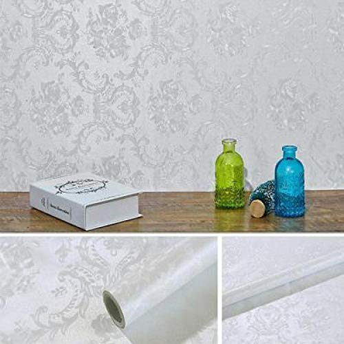 lsaiyy Selbstklebende PVC wasserdichte Tapete Reinweiß Schrank Möbel Retro Renovierung Tapete-45CMX10M