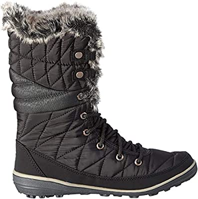 Columbia Women's Heavenly Omni-Heat Snow Boot, Black, Kettle, 7 Regular US