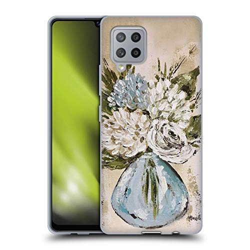 Head Case Designs Officially Licensed Haley Bush Blue and White Vase Floral Painting Soft Gel Case Compatible with Samsung Galaxy A42 5G (2020)