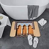 Súper suave baño alfombras de alfombras, acuario, bajo el tema del acuario Natación linda Natación Goldfishes con vívido B, Mat de baño absorbente de agua Dormitorio antideslizante, Alfombra Adecuada