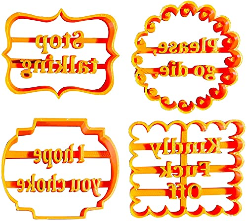 Cookie Molds With Good Wishes, Kitchen Cookie Cutter Shapes Molds, DIY Biscuit Fondant Cake Chocolate Stamp Mold Set For Halloween Christmas Birthday Party, Desserts Candy Gum Paste Baking Mould