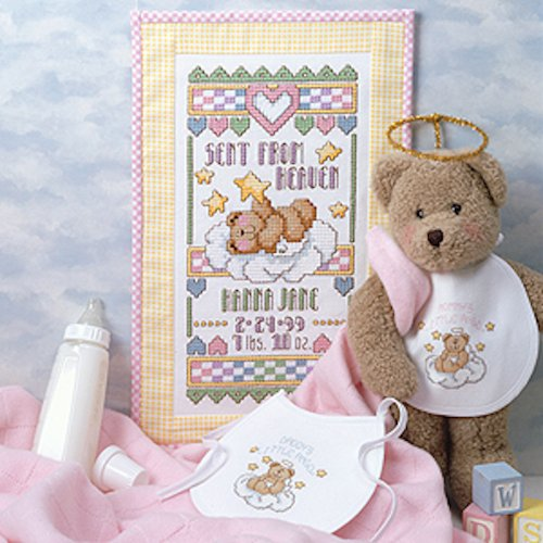 Sent From Heaven Sampler & Bibs Cross Stitch ePatterns (English Edition)