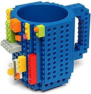 350ML Build-On Brick Building Blocks Coffee DIY Block Puzzle Mug (Black) snowvirtuosau