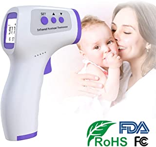 Infrared Forehead Thermometer Adults Non-Contact - Digital Forehead Thermometer with LCD Display Accurate Instant Readings Kids Baby Non Touch