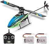Helicóptero Taotuo RC, WLtoys V911S Helicóptero RC 4CH 6G sin alerón con giroscopio para entrenar juguetes para niños con 2 baterías