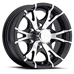 top 10 15 aluminum wheels 15 inch T07 Black Machined Aluminum 6 Bolt Trailer Rim 2830 lbs Capacity