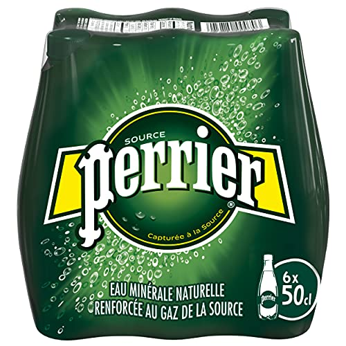 Agua Mineral Natural con Gas - PERRIER - 6 x 50cl PET