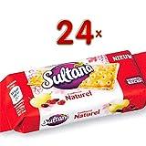 Sultana Fruitbiscuit Naturel 24 x 42g Packung (Früchtebiscuit)