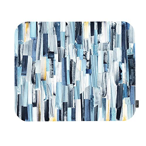 EKOBLA Abstract Art Mouse Pad Grunge Background Modern Design Stripes Teals Geometric Pattern Gaming Mouse Mat Non-Slip Rubber Base Thick Mousepad for Laptop Computer PC 9.5x7.9 Inch