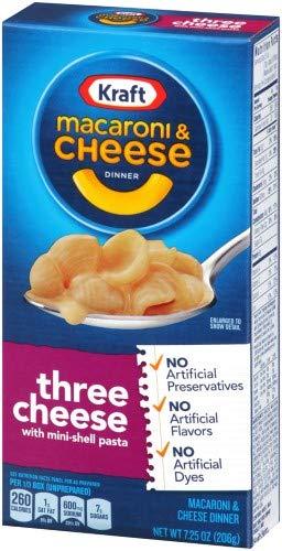 Kraft Three Cheese Macaroni amp Cheese Dinner Pack of 12