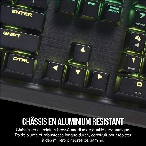 Corsair K95 RGB Platinum Clavier Mécanique Gaming (Cherry MX Brown, Rétro-Éclairage RGB Multicolore, AZERTY) Noir