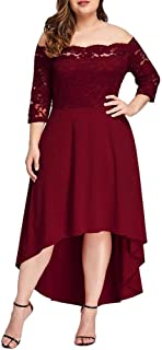 Vestidos Tallas Grandes Plus Size Largos de Fiesta para Gorditas XL Rojos Elegantes Tallas Extras