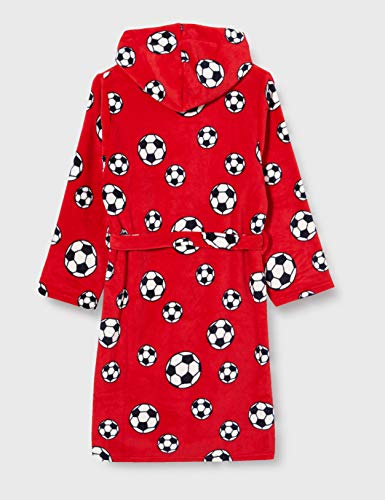 Playshoes Kuschelweicher Fleece Morgenmantel Fußball Capo d'Abbigliamento Bambino 3