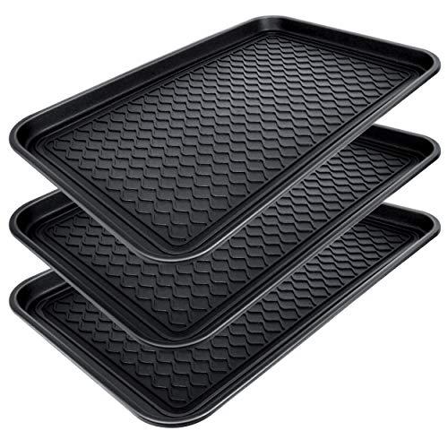 CHAIRLIN Bandeja para zapatos (3 unidades, 3 x 60 x 40 cm), color negro