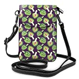 Petit sac à main pour téléphone portable - Motif artichaut - Recette bio - Menu de régime